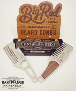 Taschenkamm - Big Red No.88 und No.88 Lite von Big Red Beard Combs