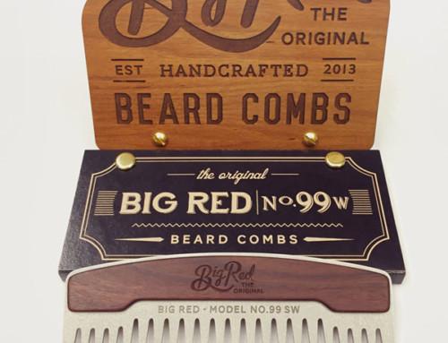 Taschenkämme aus Stahl & Holz von Big Red Beard Combs
