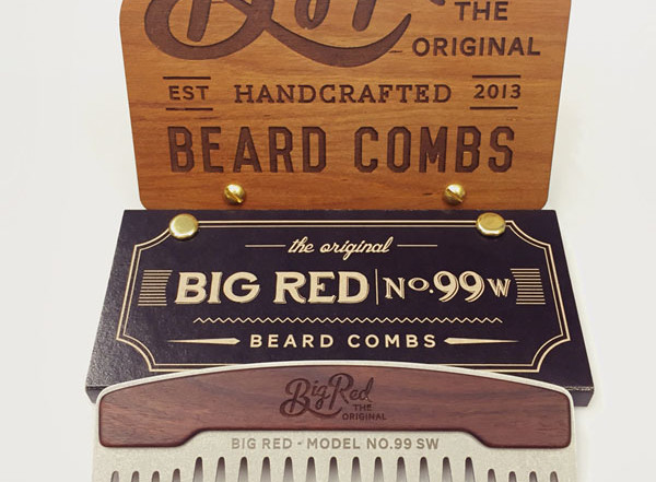 Metallkamm Big Red No.99 SW von Big Red Beard Combs